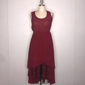 Sans Souci red low high dress